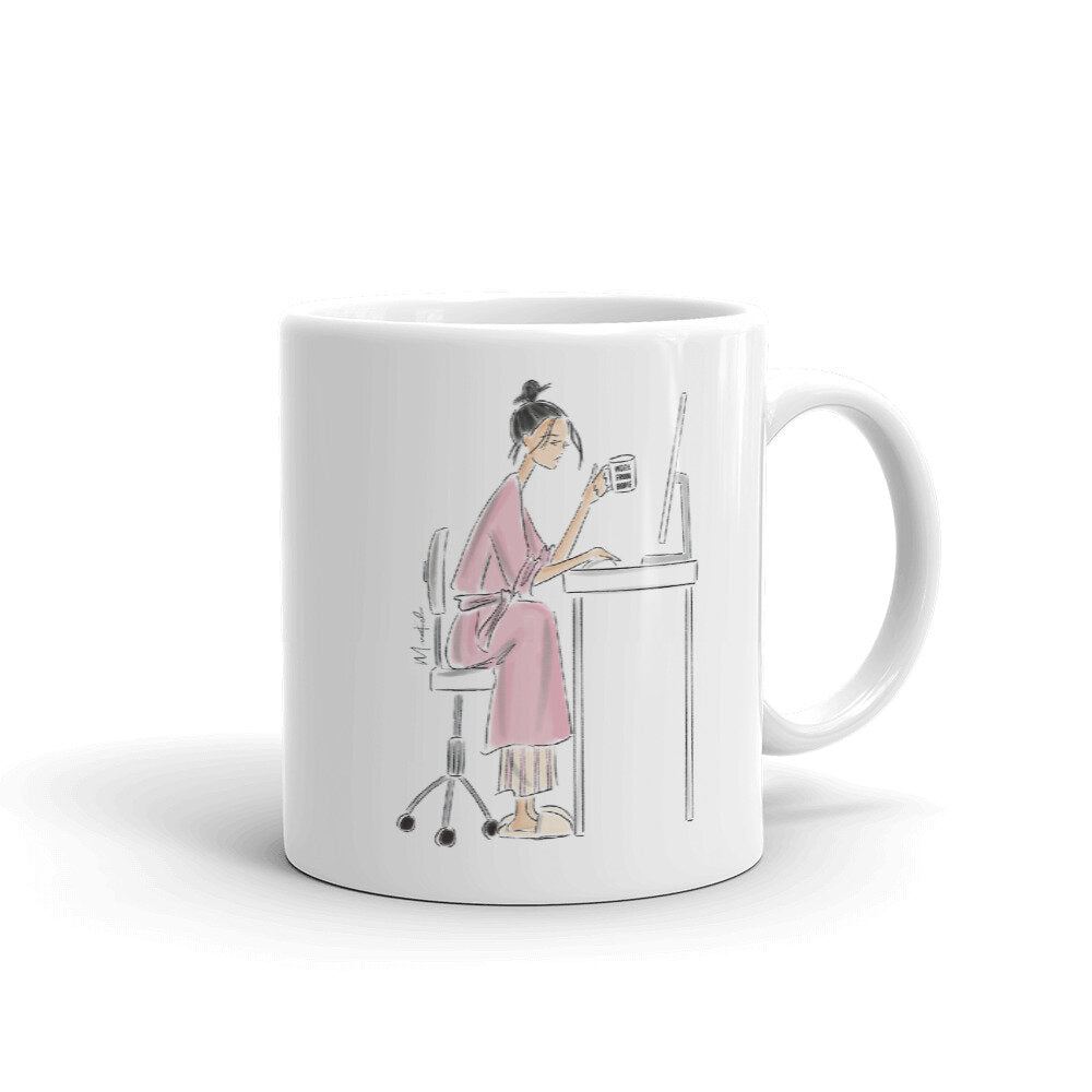 Work From Home Mug (select hair color/skin tone