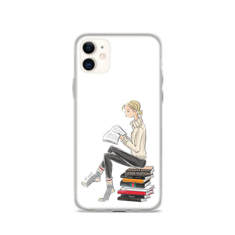 Bookworm iPhone Case (select hair color/skin tone)