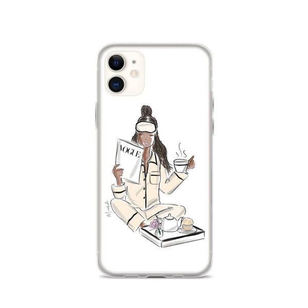 A Vogue Breakfast iPhone Case (select hair color/skin tone)