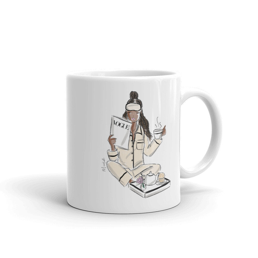 A Vogue Breakfast Mug (select hair color/skin tone)