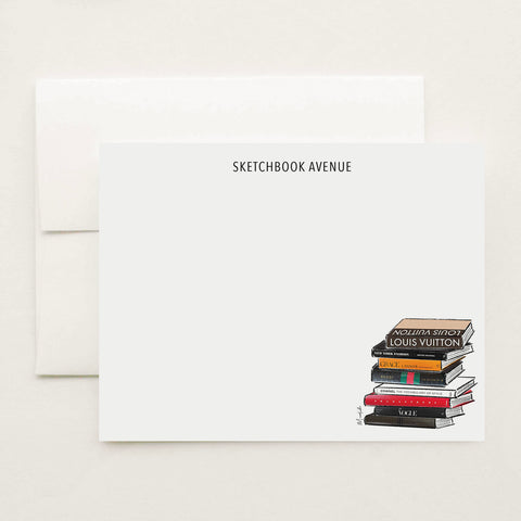 Fashion Books Stationery Set (personalize name)