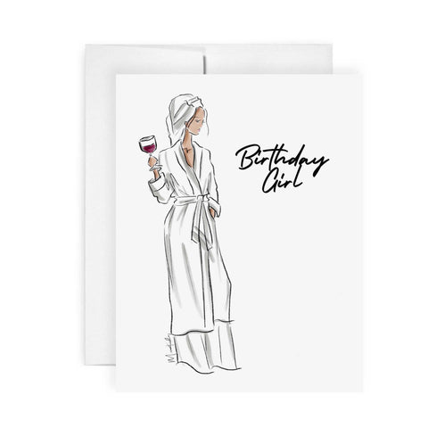 Robe Birthday Card (select skin tone)