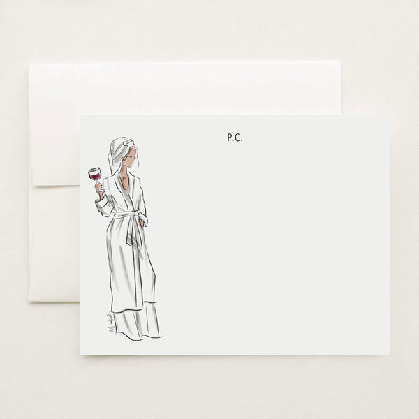 Friday Robe Stationery Set (select skin tone and personalize name)
