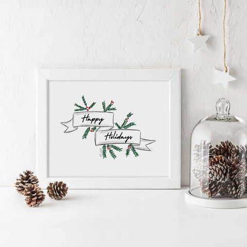 Happy Holidays Print