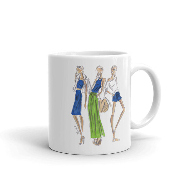Ladies in Blue and Green Mug