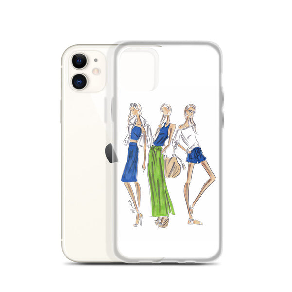 Ladies in Blue and Green iPhone Case
