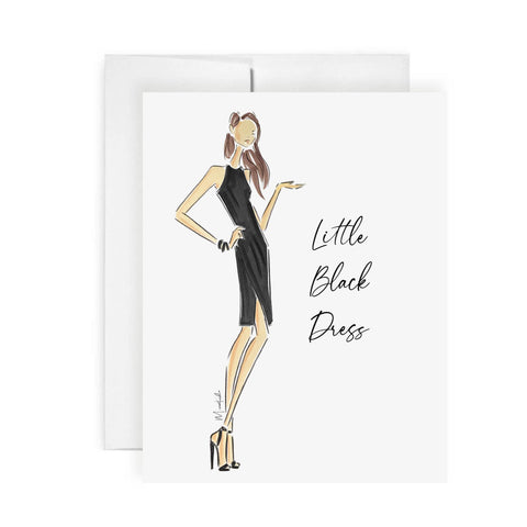 Little Black Dress Card (select hair color/skin tone)