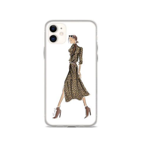 Leopard Dress iPhone Case (select hair color/skin tone)