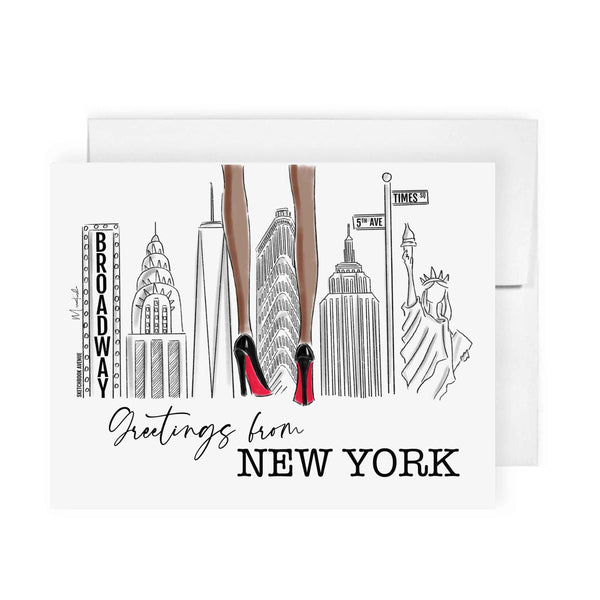 Greetings From New York Card (select skin tone)
