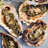 Grilled Oysters with Lemony Garlic-Herb Butter