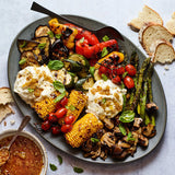 Sweet-and-Spicy Grilled Vegetables with Burrata