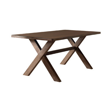 DAWSON X-Shaped 6pcs Dining Table set Knotty Nutmeg