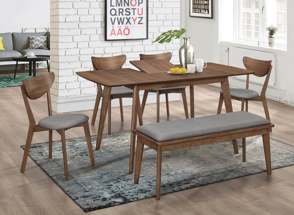 ALFREDO DINING TABLE W/ EXTENSION 6 PCS SET