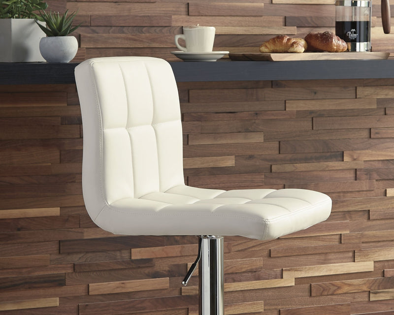 BELLATIER TALL UPH SWIVEL BARSTOOL- BLACK OR WHITE