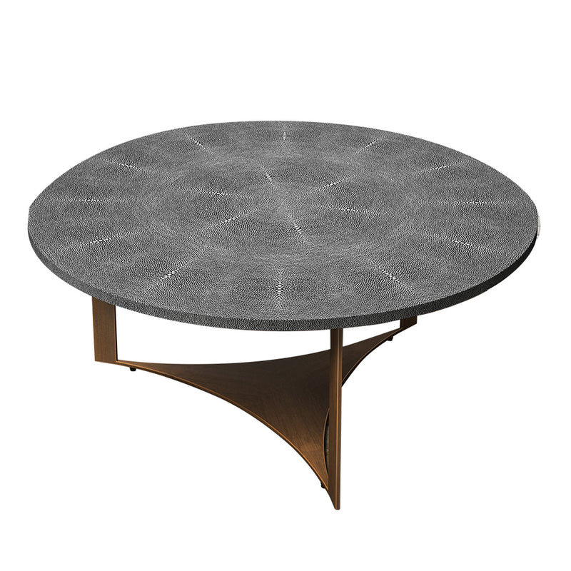 AMBIENTE SHAGREEN ROUND COFFEE TABLE