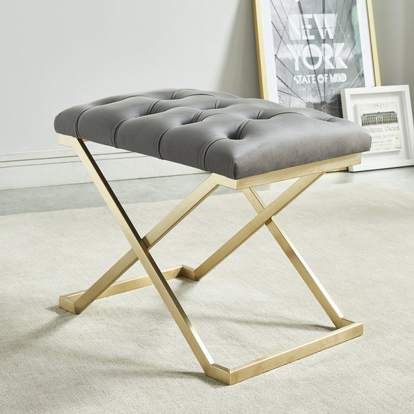Ada Bench in Grey/Gold
