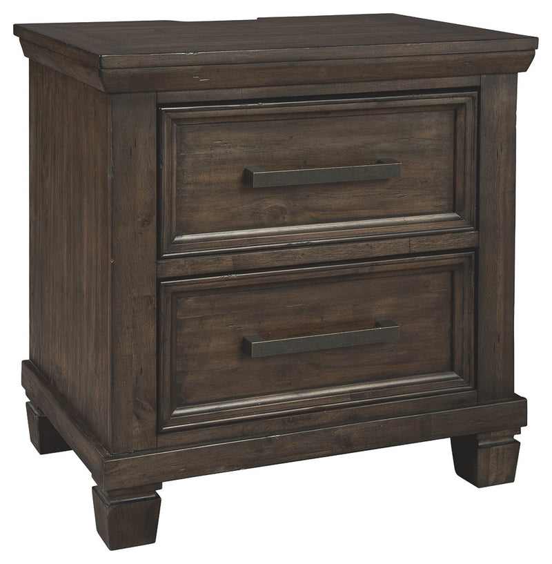 JOHURST TWO DRAWER NIGHT STAND