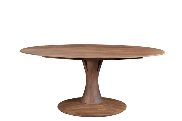 ASPEN OVAL DINING TABLE - LIGHT BROWN MATTE