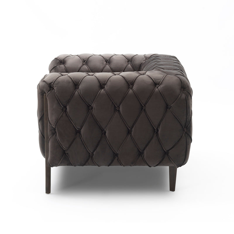 BARNABY CLUB CHAIR - STONE GREY VELVET