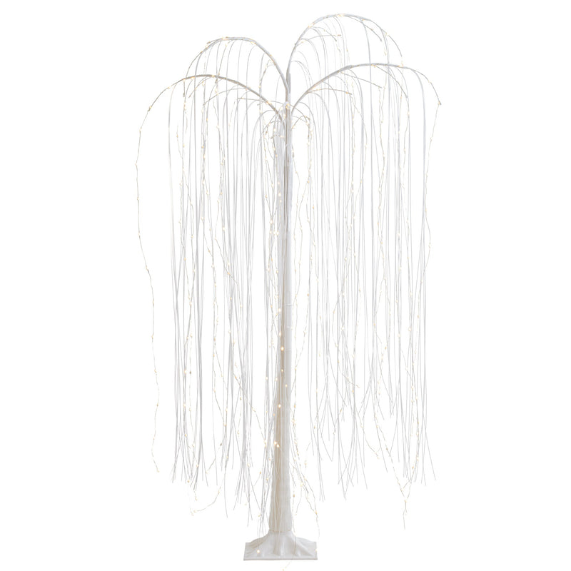 "WHITE WILLOW FREESTANDING 60H"" 360 LED DECOR TREE"