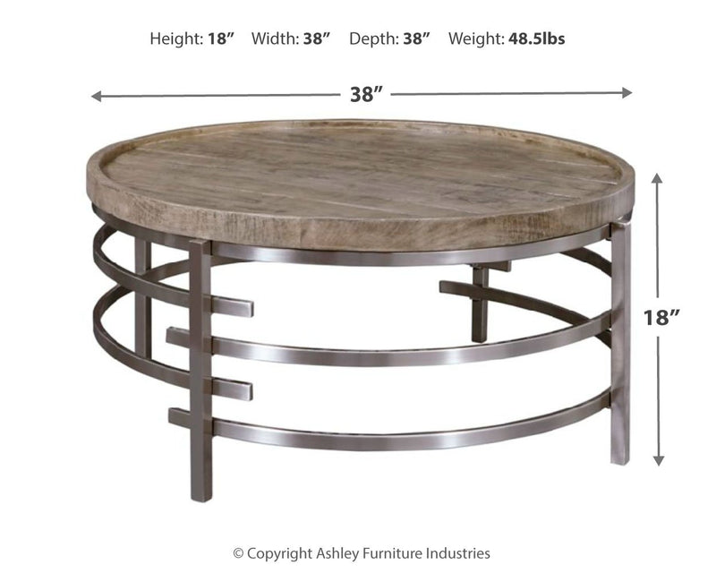 ZINELLI ROUND COCKTAIL TABLE
