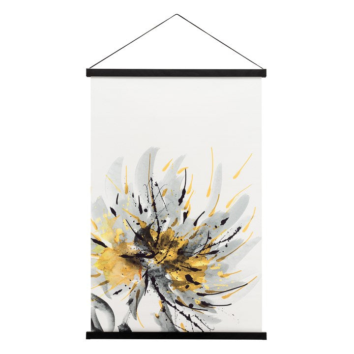 MIKO HANGING PRINTED CANVAS ROLLED WALL ART - DAHLIA