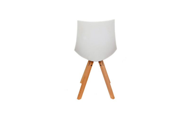 LILLY MID-CENTURY DINING CHAIR -WHITE