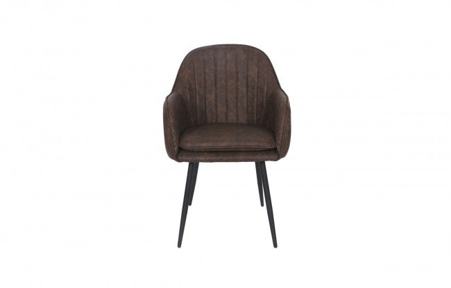 LYNA MID-CENTURY CHAIR- BROWN