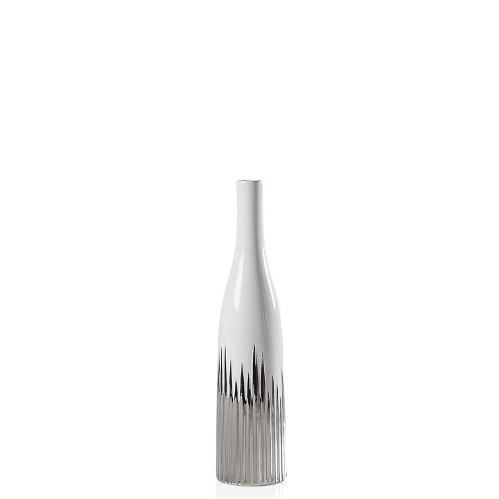 "FLARE 13H"" CERAMIC BOTTLE VASE"