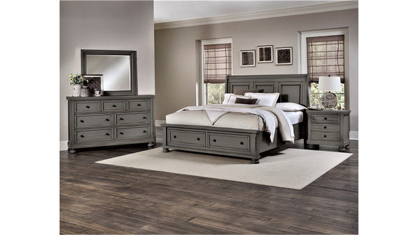 RIDGEDALE QUEEN STORAGE BED-GREY