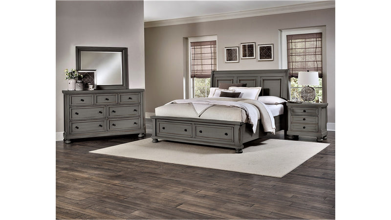 RIDGEDALE QUEEN STORAGE BED-BROWN