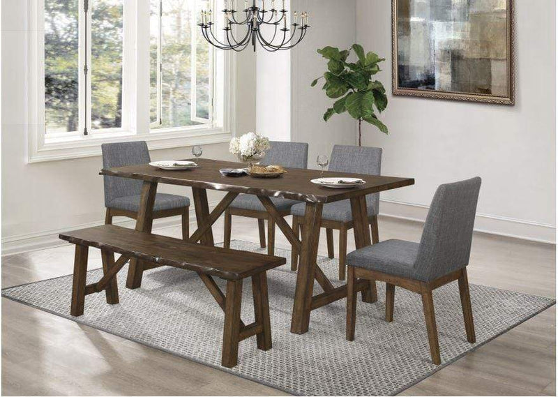 LAMAR -LIVE EDGE DINING TABLE CHAIR
