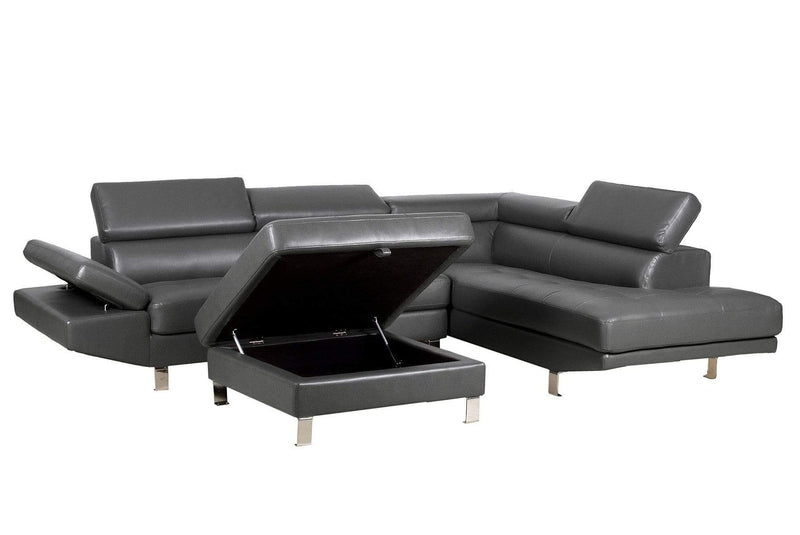 RAMY RIGHT  SOFA AND LEFT CHAISE-TANNER GREY