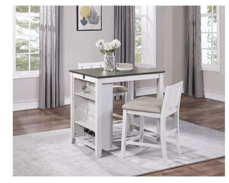 NEWPORT WHITE 3-PIECE PACK COUNTER HEIGHT SET