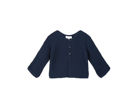 Absorba Navy Knit Cardigan
