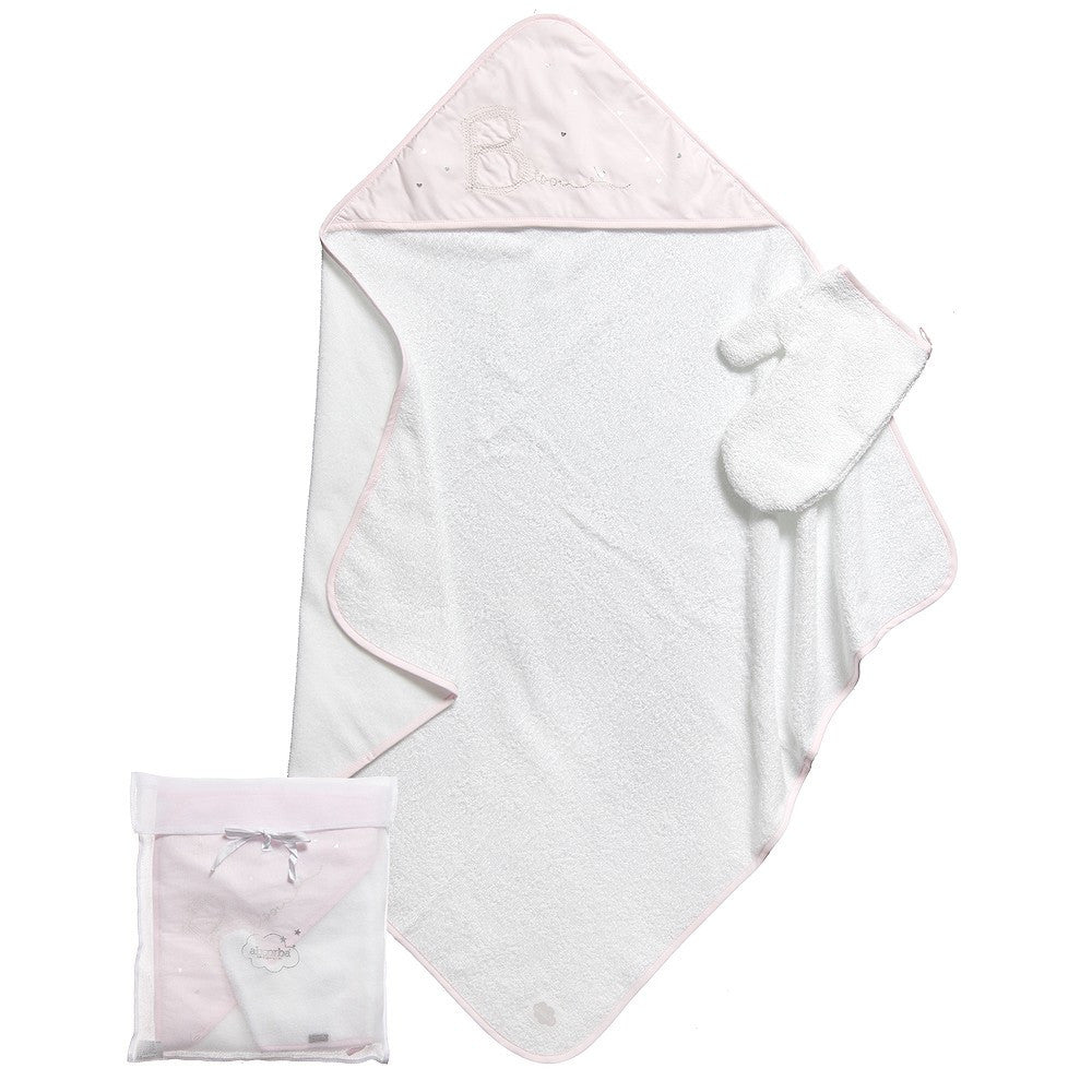 Absorba Baby Pink Hooded Towel