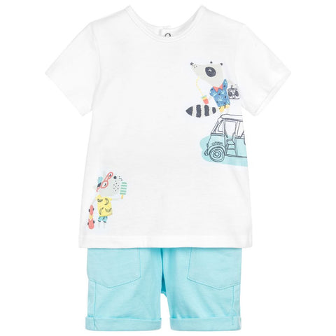 Catimini Baby Boy T-Shirt and Shorts Set