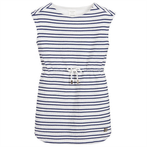 Carrément Beau Blue and White Striped Dress