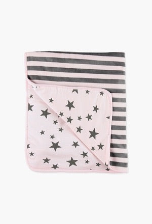 Boboli Baby Girls Pink Padded Blanket