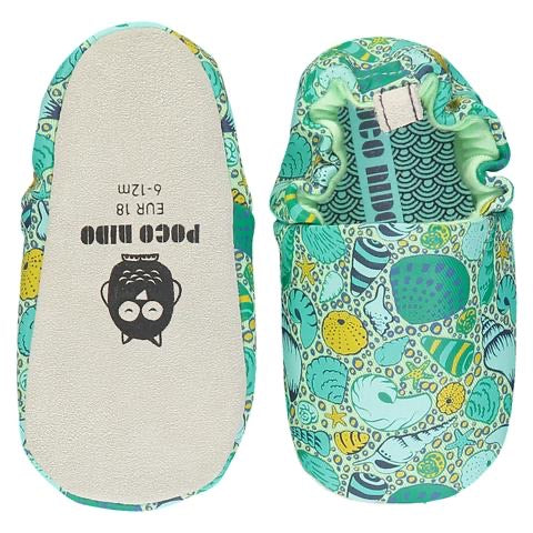 Poco Nido Green Shells Baby Shoes