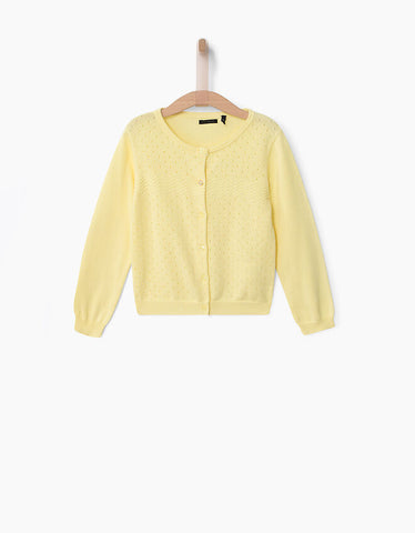 IKKS Yellow Cardigan.
