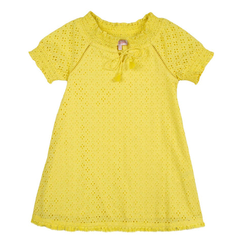 Lili Gaufrette Yellow Broderie Anglais Dress