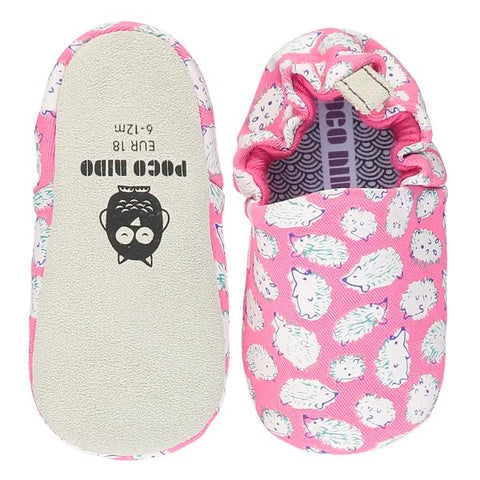 Poco Nido Pink Hedgehog Baby Shoes