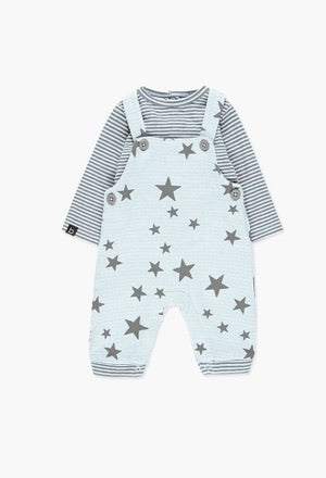 Boboli Baby Boy Star Dungaree Set