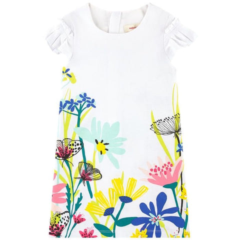 Catimini White Pattern Tee Dress