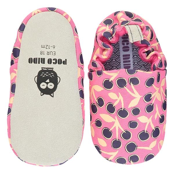 Poco Nido Pink Cherries Baby Shoes