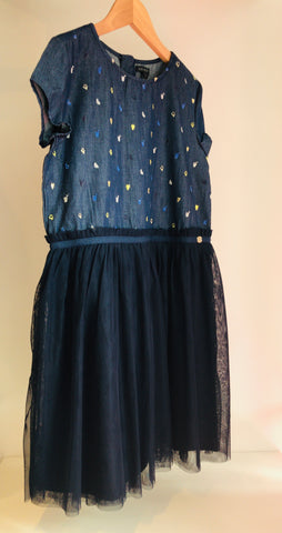 IKKS Denim & Tulle Dress