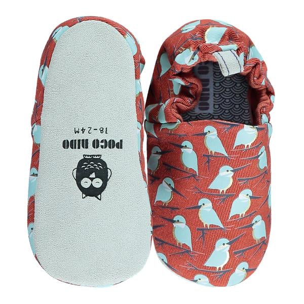 Poco Nido Red kingfisher Baby Shoes