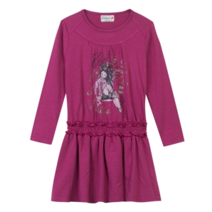 Chipie Deep Pink Jersey Dress