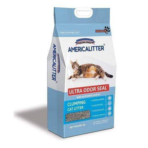 America Litter Clumping odor control-10L/7KG- Unscented-Cats litter-Whiskers Nation